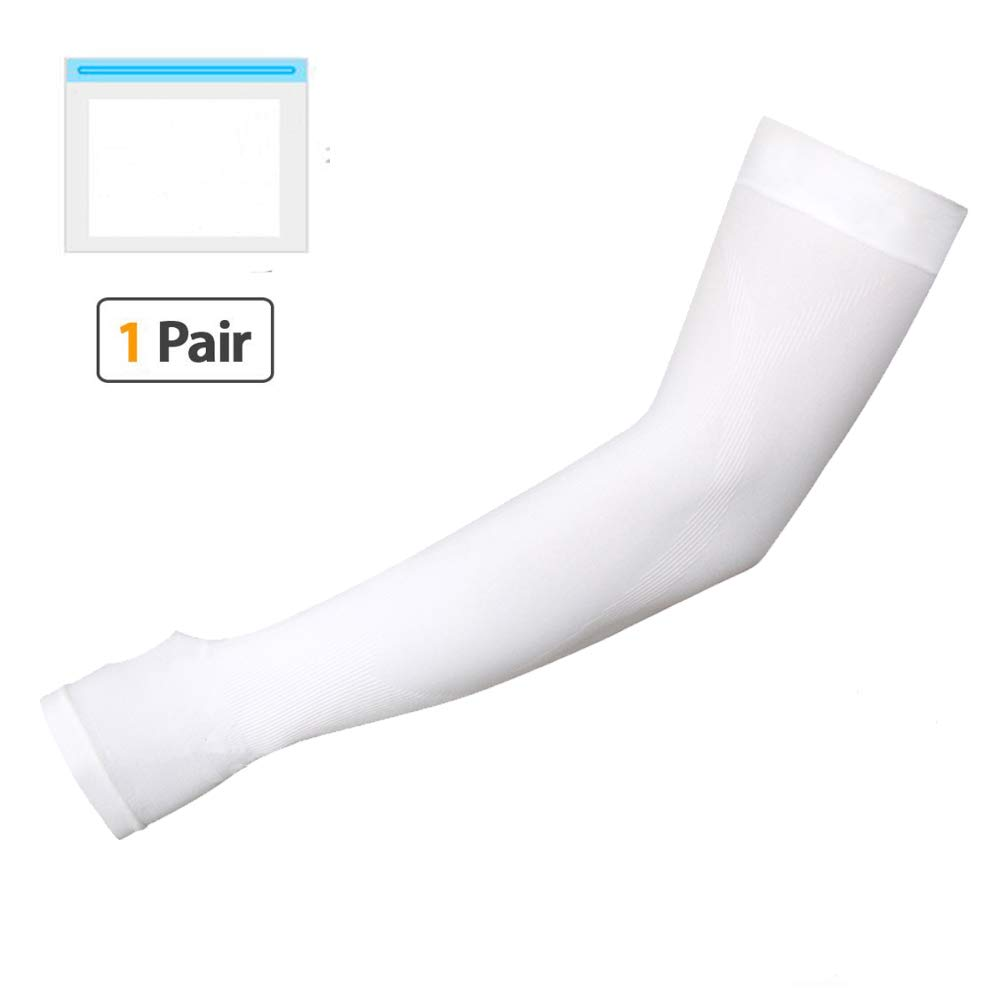 Anntuk Protection Cooling Arm Sleeves,UPF 50 Compression Sun Sleeves for Men & Women for Cycling, Running, Football, Basketball, Golf, Outdoor Sports One Pair by Anntuk