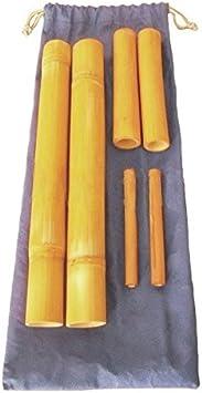 Kit 6 bambuterapia- cañas de bambú para masaje corporal