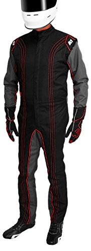 K1 Race Gear CIK/FIA Level 2 Approved Kart Racing Suit (Red, Medium/Large) ()