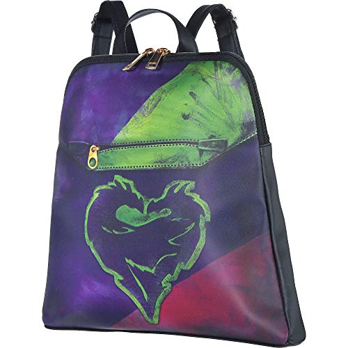 Party City Descendants 3 Mal Backpack for Children, One Size, 13 by 12 Inches, with a Dragon Logo and Adjustable