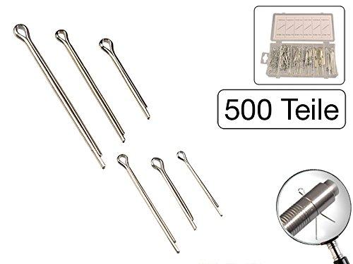500 tlg Sortiment Splinte Durchmesser 1, 6 - 4 mm Lä nge 25 - 63 mm MS Warenvertrieb