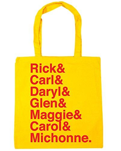 Shopping amp; Rick Glen amp; amp; Tote Gym Bag amp; amp; Daryl Michonne Carol x38cm 42cm litres Yellow 10 Carl amp; HippoWarehouse Beach Maggie f6qwgf