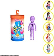Barbie Color Reveal Chelsea Doll with 6 Surprises: Water Reveals Doll's Look & Creates Color Change on Hai
