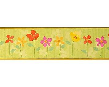 As Creation 745040 Flower Power Sfondo Verde E Giallo Fiori
