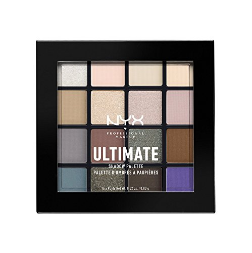 NYX PROFESSIONAL MAKEUP Ultimate Shadow Palette, Cool Neutrals, 0.46 - Tones Skin Warm Cool And