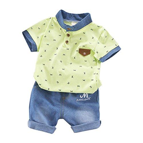 a37d59de2bcf BOBORA Baby Boy Kids Summer Clothes Set Cartoon Whale Short Sleeved Tops  with Elastic Striped Short Pants - Buy Online in UAE.