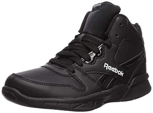 Reebok Boys BB4500 HI 2 Basketball Shoe, Black/White, 1 M US Big Kid