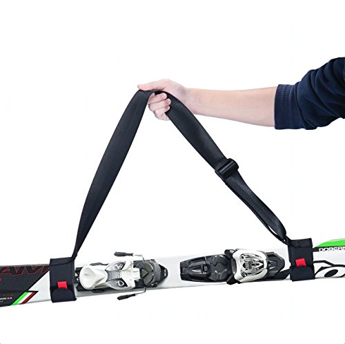 YAPA Ski Carrier Strap,Double Thick and Easy Adjustable Snowboarding Shoulder Straps Durable Sling Carrier Straps(Adult Size)