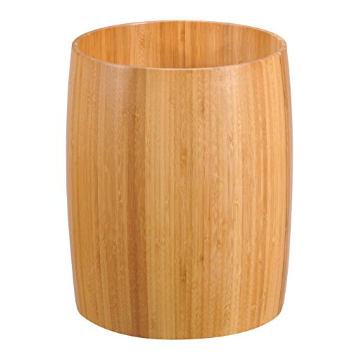 Wood Wastebasket (Creative Home 62015 Natural Bamboo Waste Basket)