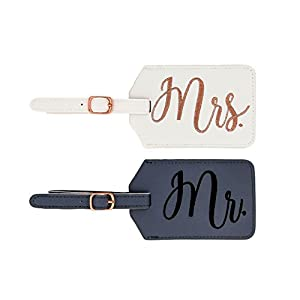 Best Epic Trends 41wKiVTAdHL._SS300_ Miamica Women's mrs. Bridal Luggage Tags, Gray & White, One Size