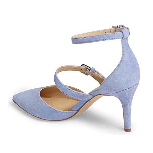 Kitten Heel Pumps Mujer Zapatos Punta estrecha Hebilla Detalle Slingbacks Bombas ZgJof3I