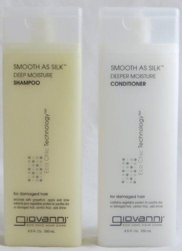 Giovanni Smooth As Silk Deep Moisture, Duo Set Shampoo & Conditioner, 8.5 Oz Each