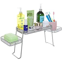 Modern Perforated Chrome Plated Metal Over-the-Sink Organizer / Bathroom Sink Tray with 3 Shelves - MyGift