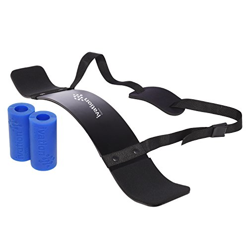 Ivation Xtreme Traction Bar Grips & Arm Blaster Set – Posture-Correcting & Intensity- Increasing Kit Puts Defined Biceps & Triceps Within Arm's Reach by Ivation