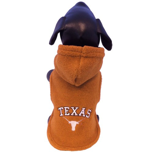 NCAA Texas Longhorns Polar Fleece Hooded Dog Jacket, X-Small