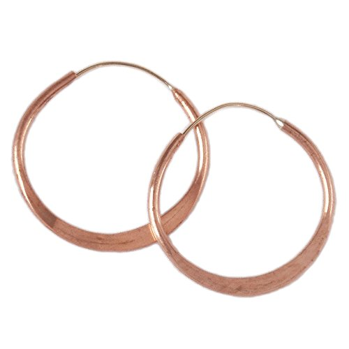 Copper Hoop Earrings, Hand Hammered, 2.5 Inches - Now with - Earrings Hand Hammered