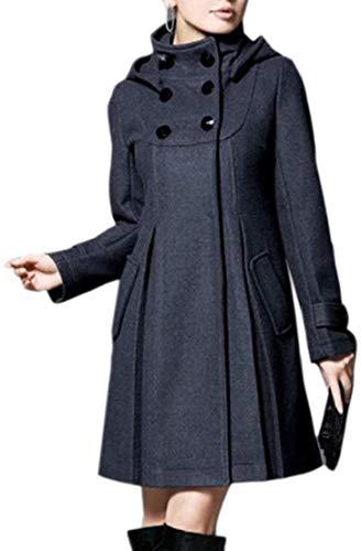 GenericWomen Winter Cape Cloak Double Breasted Swing Pea Coat Jacket 3 L