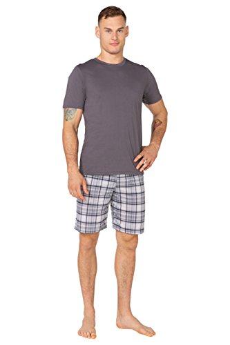 Uomo Big T Pezzi Da Shorts shirt Dimensioni Pigiami 100 Due Size Grafite 3 Pantaloni Cotone Grandi amp; Becomfy John 6xl Abbigliamento Notte tqxwrntYgC