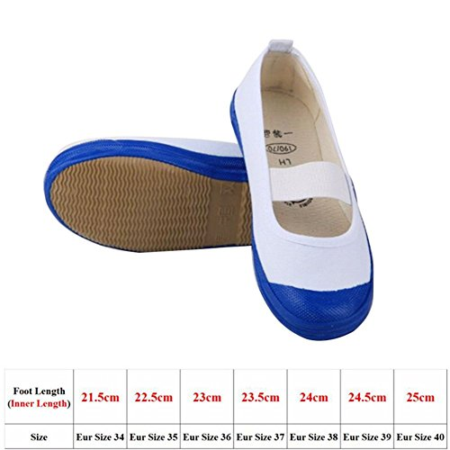 Adult Cosplay Shoes 7 Size Only for Cos-use Dancing Shoes(EU 34,21.5 cm) (Adult White Jane Shoes)
