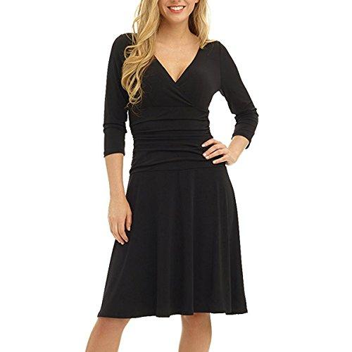 loel Women's Short Dress With V Neck