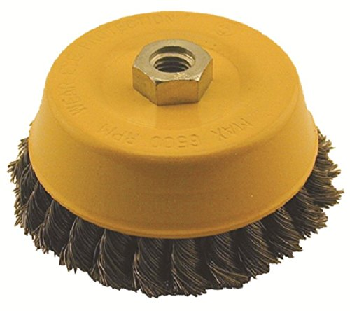 Enkay 1830-C  5-Inch Knotted Cup Brush 5//8-11 Thread Carded