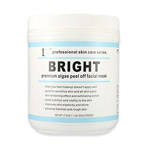 psm BRIGHT Premium Algae Peel Off Facial Mask Powder for Professional Skin Care 17.6 OZ (1.1LB / 500g) by PSM Beauty (Image #2)