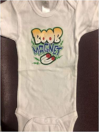 deb122d25 Amazon.com: Boob Magnet funny baby onesie infant breastfeeding bodysuit  clearance: Handmade
