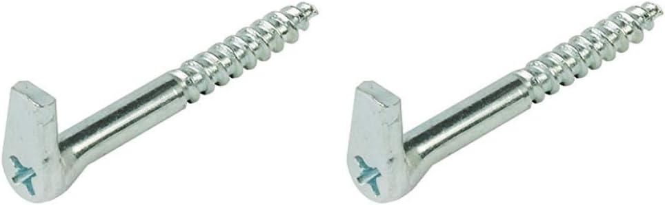 Ganchos de tornillo con ranura en cruz de acero galvanizado resistente plateado