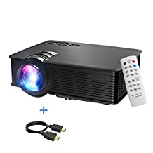 Mini Projector, Mpow Portable LED Projector HDMI projector Multimedia Home Theater LCD Projector with USB AV HDMI VGA Support HD 1080P Video Projector for Video Game Movie Backyard Cinema Great Projector for Christmas Gift Christmas Party