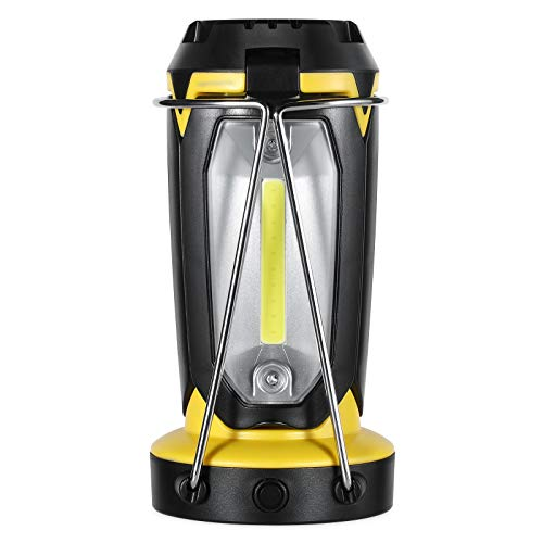 Multifunctional LED Camping Lantern, Treatlife 2200mAh Rechargeable Tent Lamp Flashlight with Power Bank Collapsible Ultra Bright COB WLED for Camping Survival Kit for Emergency, Hurricane