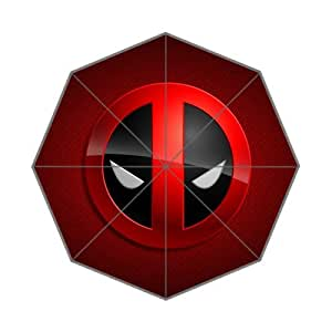 Deadpool Logo Custom Foldable Umbrella Rain Umbrella Wind Resistant Windproof Floding Travel Umbrella