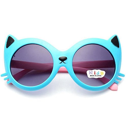 P & R Child Sun Glasses Kids Fshion Cute Girl's Candy Color Cartoon Kitty Goggles - Sunglasses P R