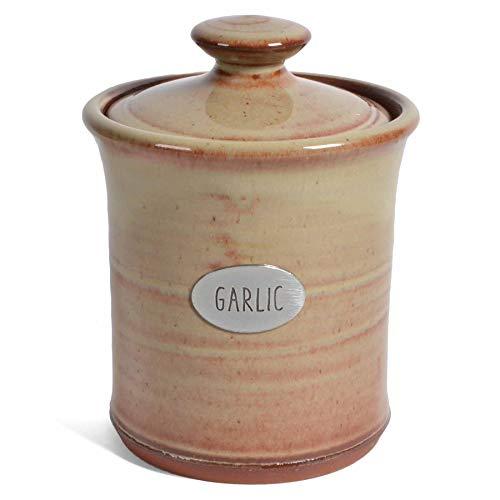 Oregon Stoneware Studio Garlic Pot, Latte
