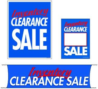 3 Sizes to Choose from Small - 4 Piece Sign Kit SKTINC 4 Piece KitInventory Clearance Sale Flooring /& Seasonal Retail Business Store Signs Advertising Furniture