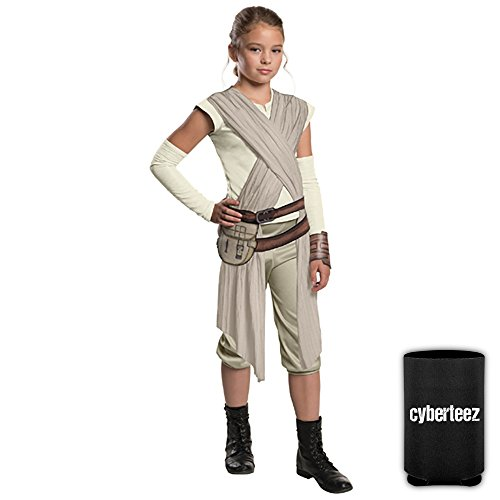 Star Wars Rey Force Awakens CHILD SIZE Deluxe Girls Costume + Coolie