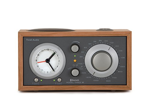 Tivoli Audio - Model Three BT AM/FM Clock Radio with Bluetooth - Cherry and Taupe (Turn Signal Model)