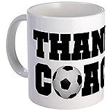 CafePress - Soccer Thanks Coach Mug - Unique Coffee Mug, Coffee Cup
