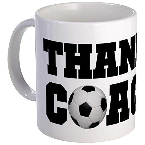 CafePress - Soccer Thanks Coach Mug - Unique Coffee Mug, Coffee Cup by CafePress