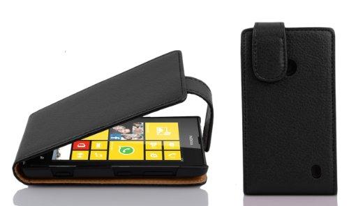 Cadorabo – Flip Style Case for Nokia Lumia 520 – Shell Etui Cover Protection Skin in OXIDE-BLACK