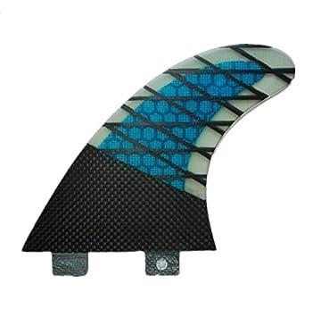 YQ Surf Fins Carbono Base G5 Tamaño Propulsores De Tabla De Surf Hechos De Fibra De Carbono Y Nido De Abeja (3 Aletas): Amazon.es: Deportes y aire libre
