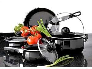 Metro 7 Piece Carbon Steel Enameled Cookware Set
