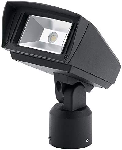 1-Light LED 10 Watts Textured Black Kichler 16221BKT30SL Outdoor Flood Light