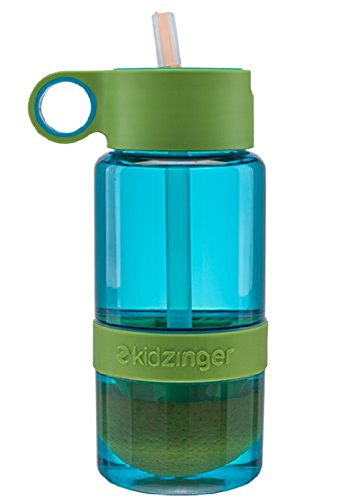 Citrus Zinger Mini by Zing Anything, Active Infusion Water Bottle, Citrus Fruit Infusion, BPA EA free Tritan, Reusable Water Bottle, Hydration, Infusion Technology, Flip Up Straw Cap, 16 oz., Blue