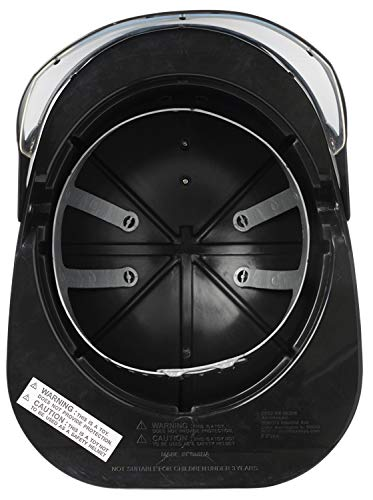 Aeromax Firefighter Helmet with movable visor, Black, Adjustable Size