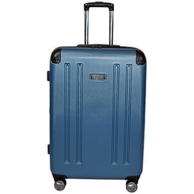 Kenneth Cole Reaction 8 Wheelin Expandable Luggage Spinner Suitcase Medium 25  (Ocean Blue)