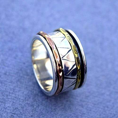 Amazon.com: Spinner Band Rings, Anxiety Ring for Meditaion