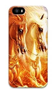 3D horse 3D Case free iphone 5 case for Apple iPhone 5/5S by runtopwell