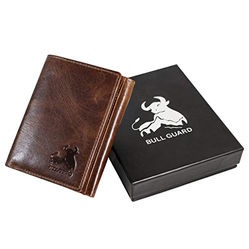 Bull Guard Best Leather Men's RFID Trifold Wallet