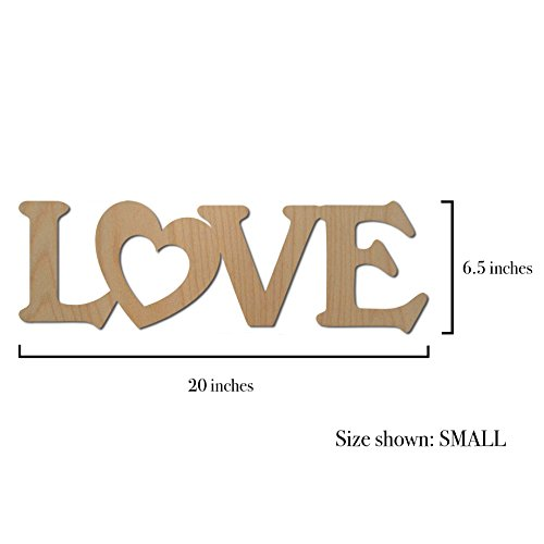 48 Hour Monogram - LOVE Sign, Wooden Word - Script Font (Natural) - BALTIC BIRCH - HIGH GRADE (Small) -