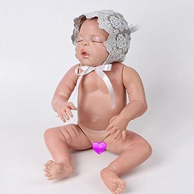 OULII Bebé recién nacido niña encaje cinta de seda ajustable tapa sombrero foto atrezzo favores (gris)